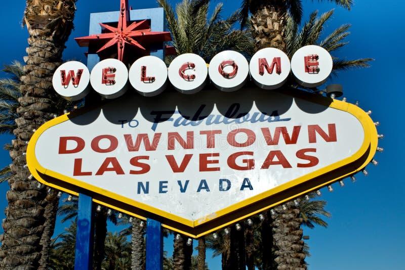 Segno del centro di Las Vegas fotografia stock libera da diritti