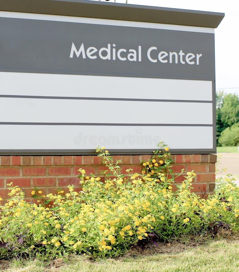 Segno del centro medico immagine stock