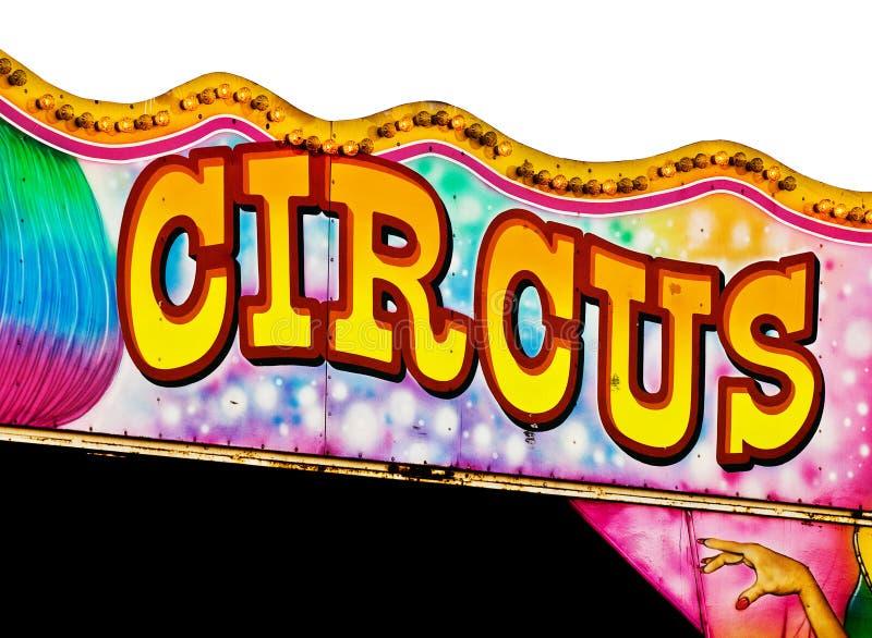 Segno del circo fotografie stock libere da diritti