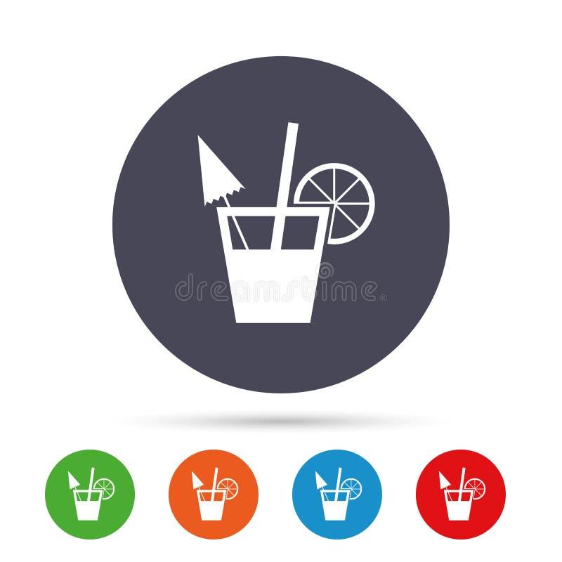 Segno del cocktail Simbolo della bevanda alcolica illustrazione di stock