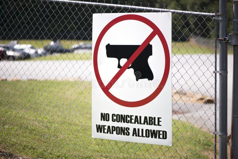 Segno del controllo delle armi nel luogo di lavoro immagine stock libera da diritti
