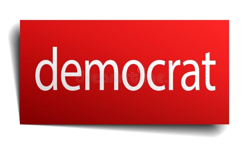 segno del democratico illustrazione di stock