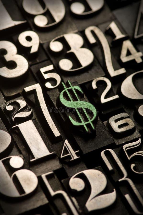 Segno del dollaro, verde immagini stock libere da diritti