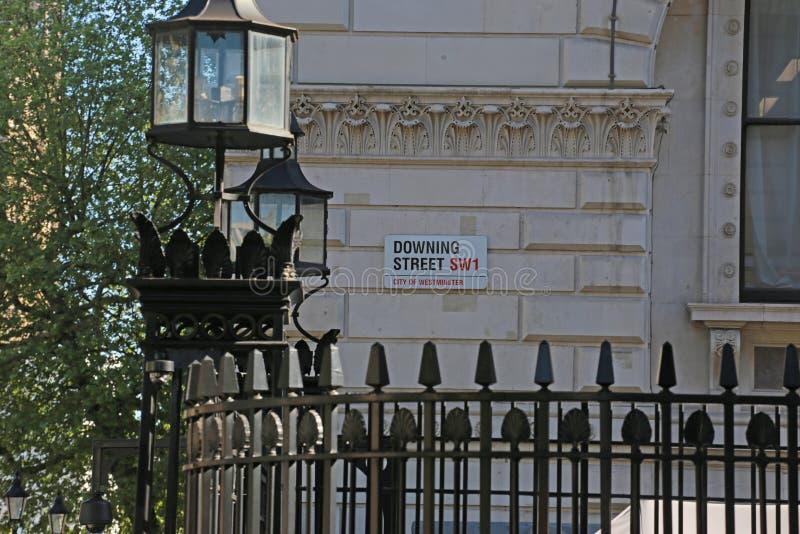 Segno del Downing Street immagine stock