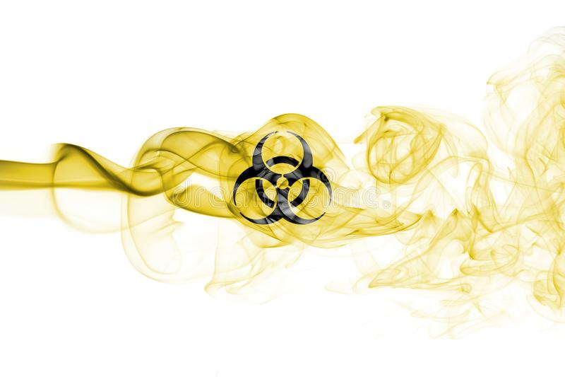 Segno del fumo di rischio biologico illustrazione di stock