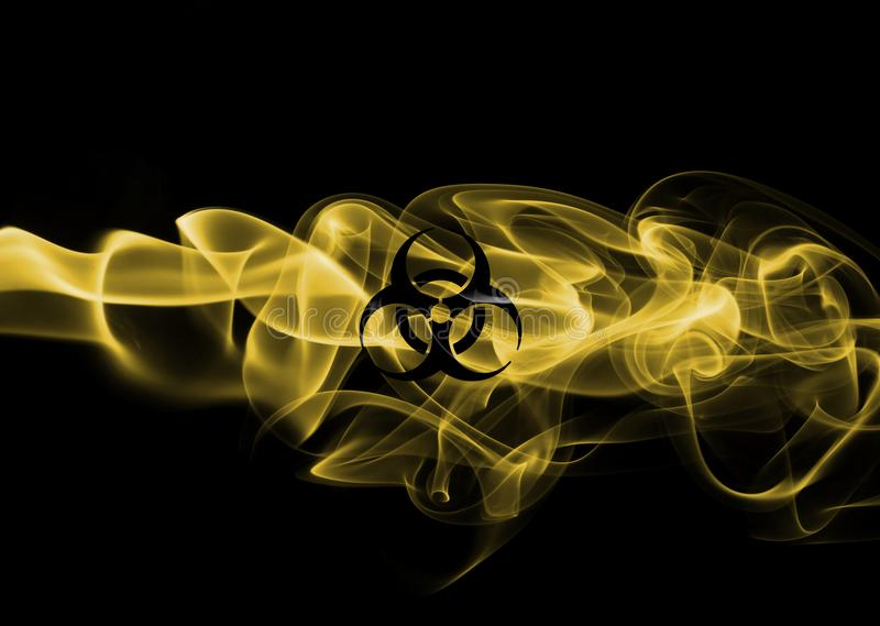 Segno del fumo di rischio biologico illustrazione vettoriale