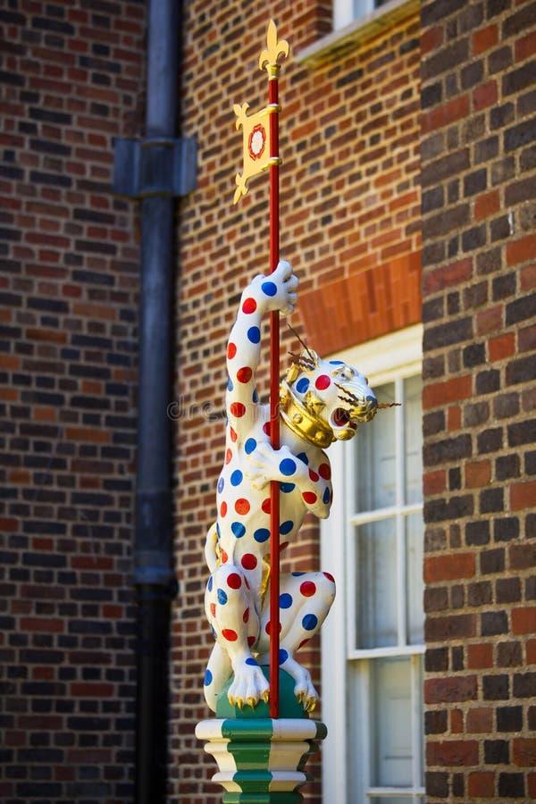 Segno del Hampton Court - tigre immagine stock libera da diritti