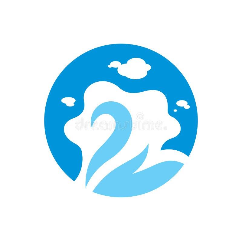 Segno del lago swan illustrazione di stock