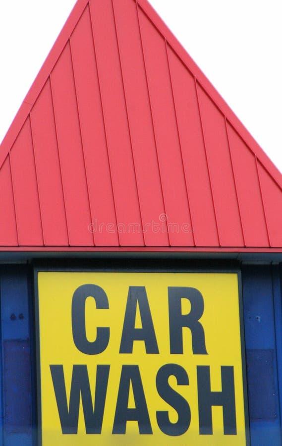 Segno del lavaggio di automobile. fotografia stock libera da diritti