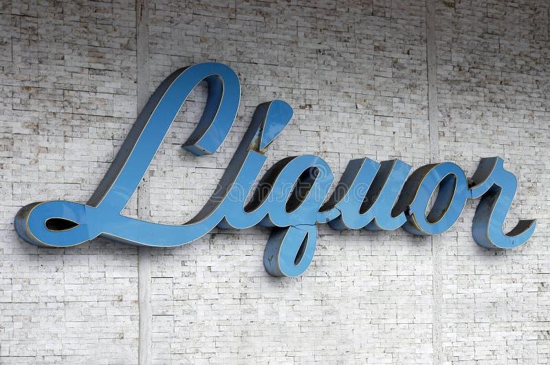 Segno del liquore fotografia stock