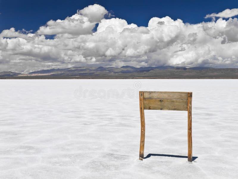 segno del mare del sale di legno immagini stock libere da diritti
