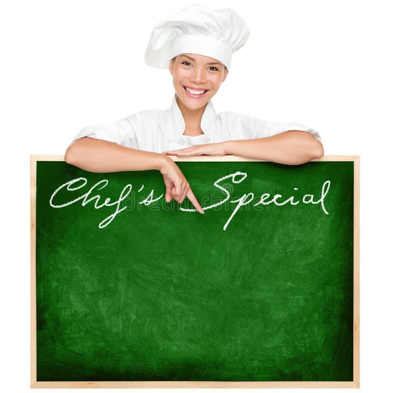 Segno del menu del cuoco unico