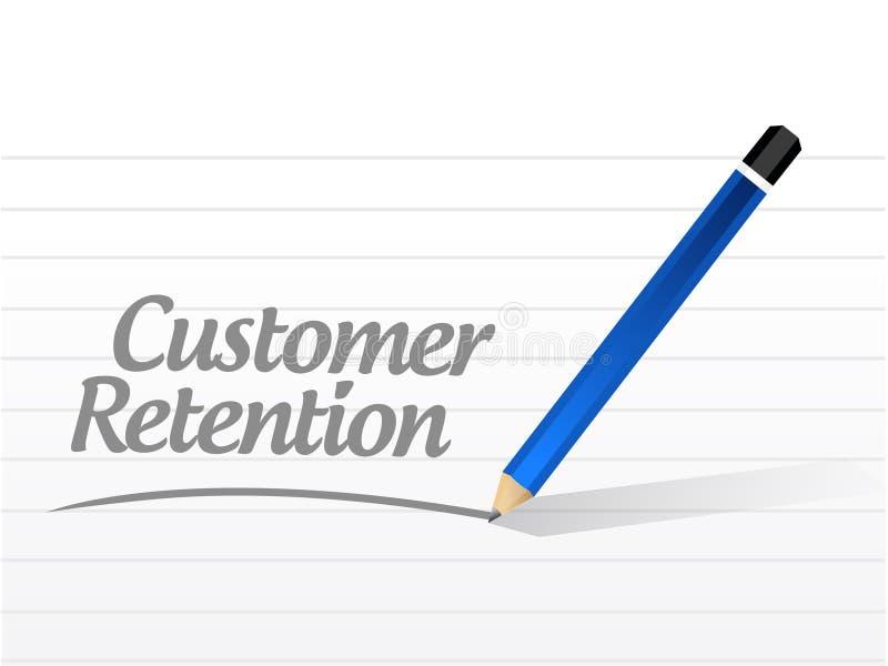 segno del messaggio di conservazione del cliente illustrazione vettoriale
