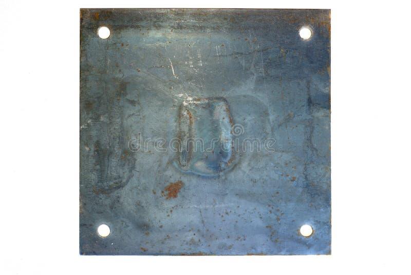 Segno del metallo fotografie stock
