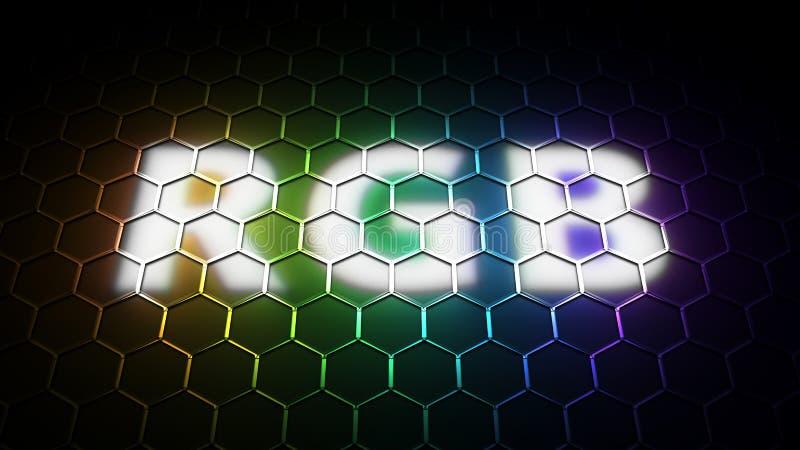 Segno del modello di colore di RGB illustrazione vettoriale