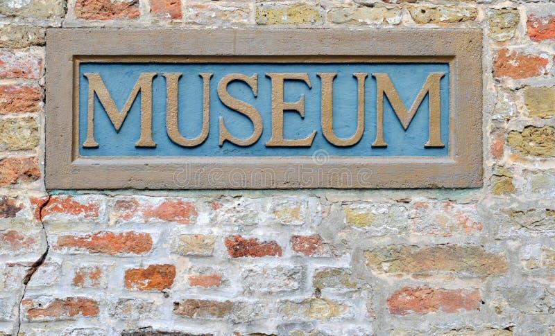 Segno del museo fotografie stock