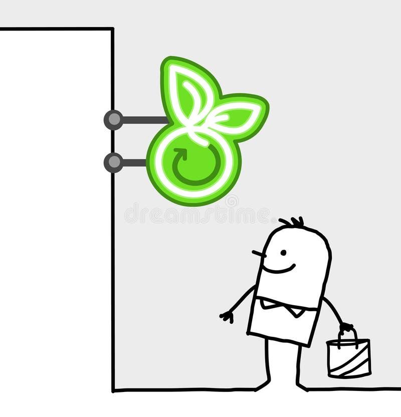 Segno del negozio & del consumatore - alimento biologico royalty illustrazione gratis