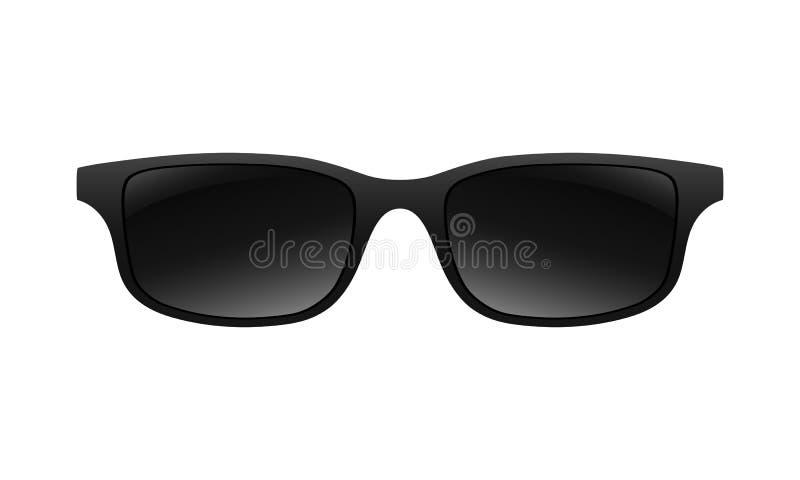 Segno del nero del grafico degli occhiali da sole illustrazione vettoriale