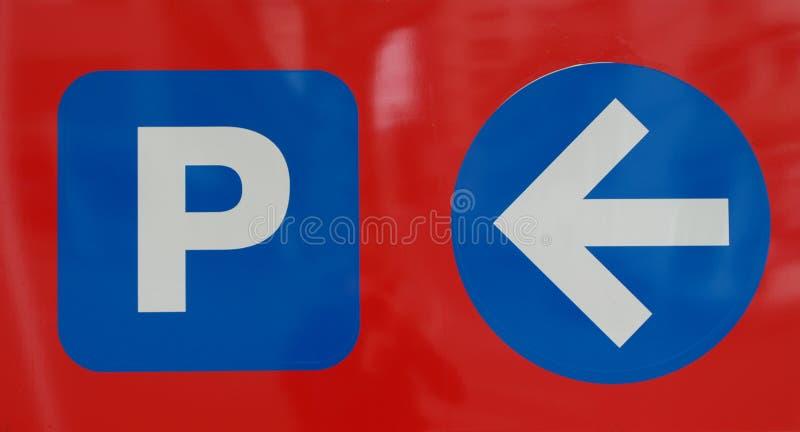 Segno del parcheggio fotografia stock libera da diritti