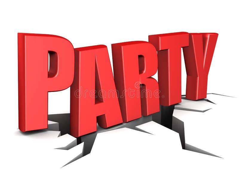 Segno del partito illustrazione vettoriale
