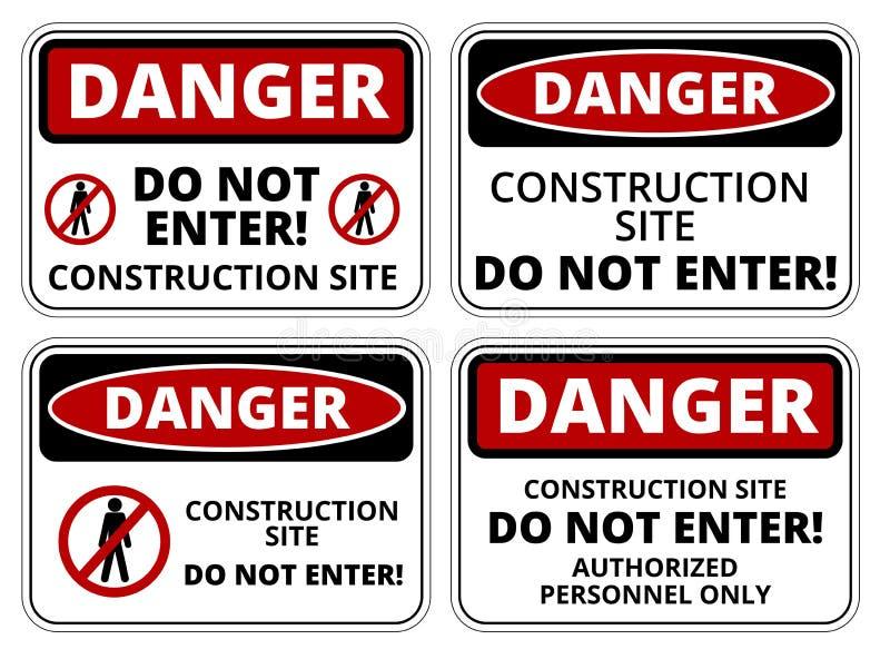 Download Segno del pericolo illustrazione vettoriale. Illustrazione di industria - 56877069