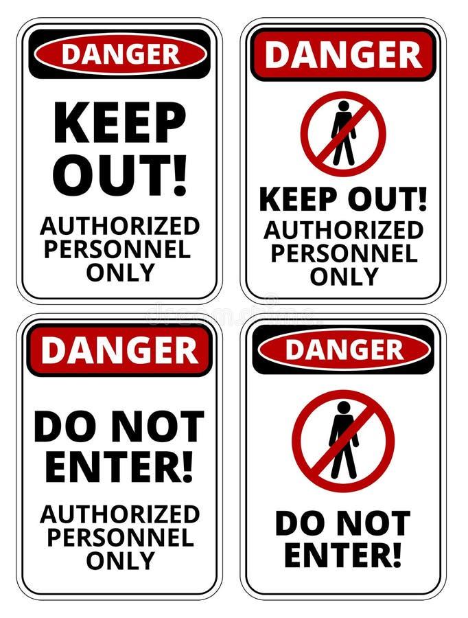 Download Segno del pericolo illustrazione vettoriale. Illustrazione di proibizione - 56877722
