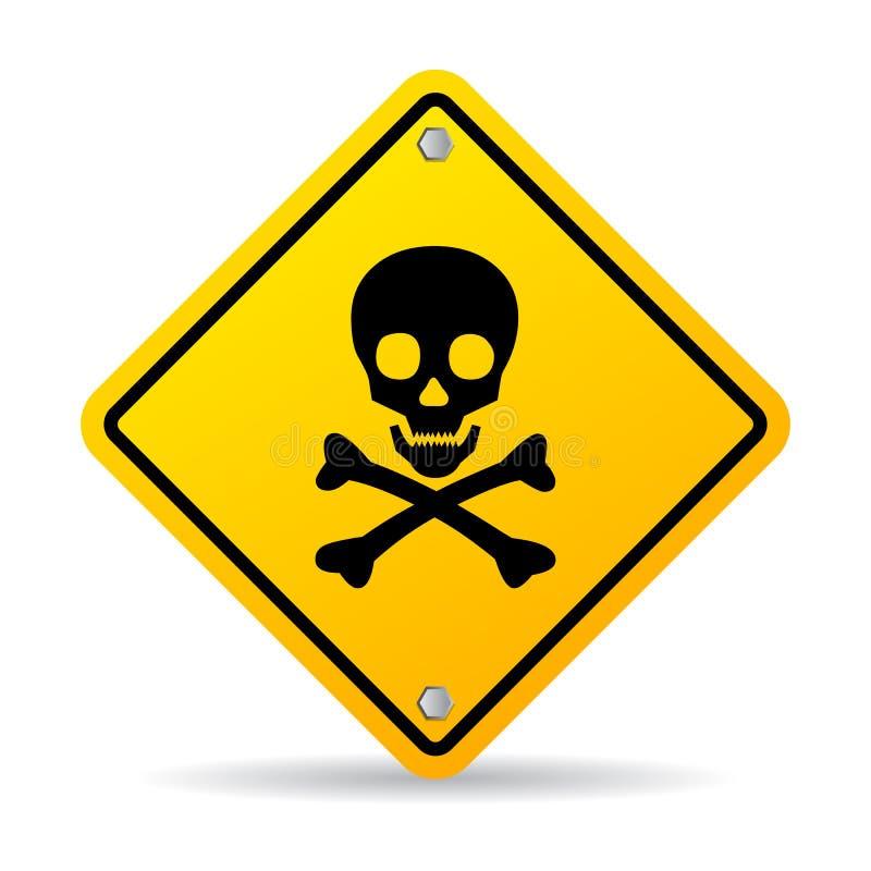Segno del pericolo del cranio illustrazione di stock