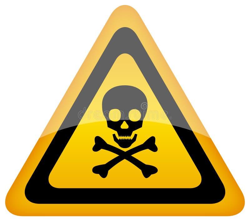 Segno del pericolo del cranio di vettore illustrazione vettoriale