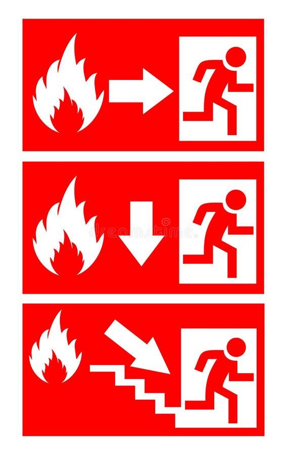 Segno del pericolo del fuoco illustrazione di stock