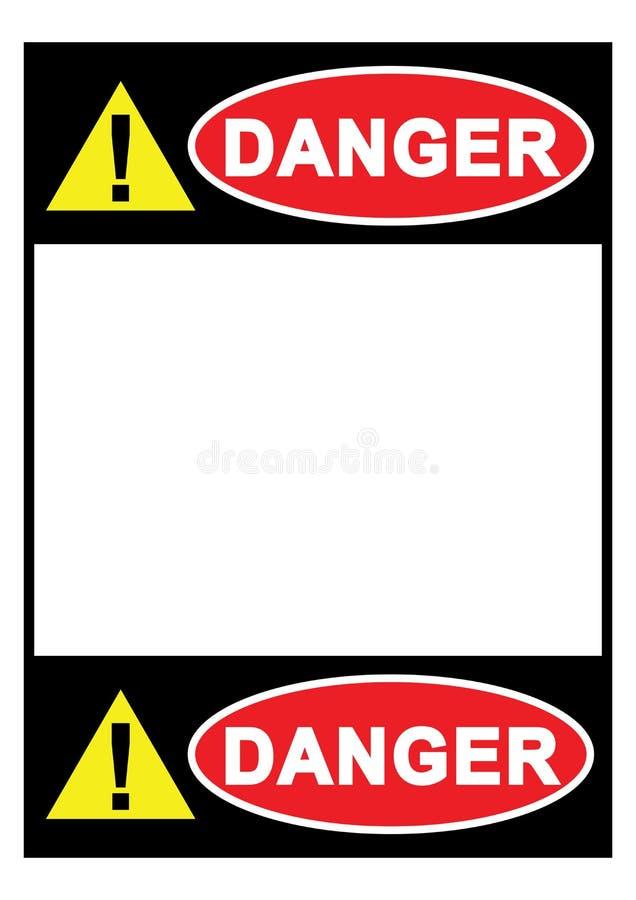 Segno del pericolo del segnale di pericolo con spazio per i vostri modelli di carta stampabili del testo disponibili per il vetto royalty illustrazione gratis