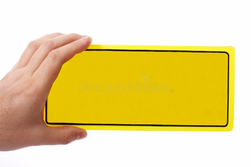 Segno del portello in bianco fotografia stock