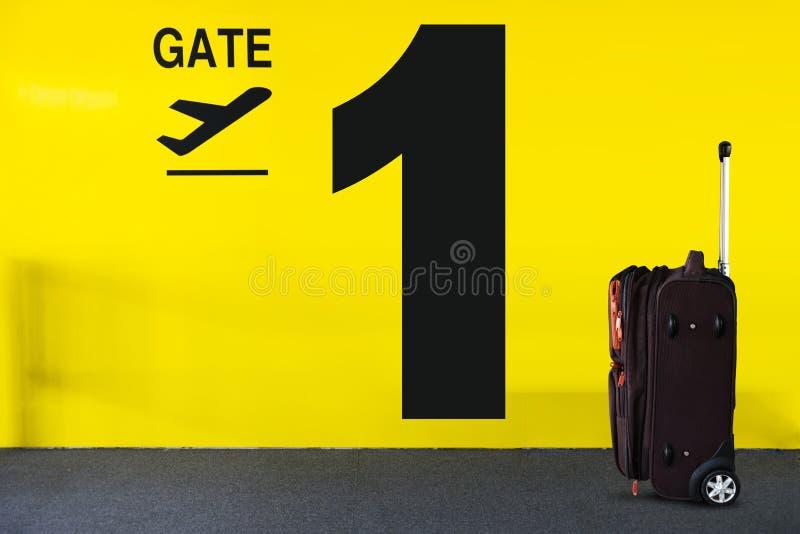 Segno del portone dell'aeroporto fotografia stock