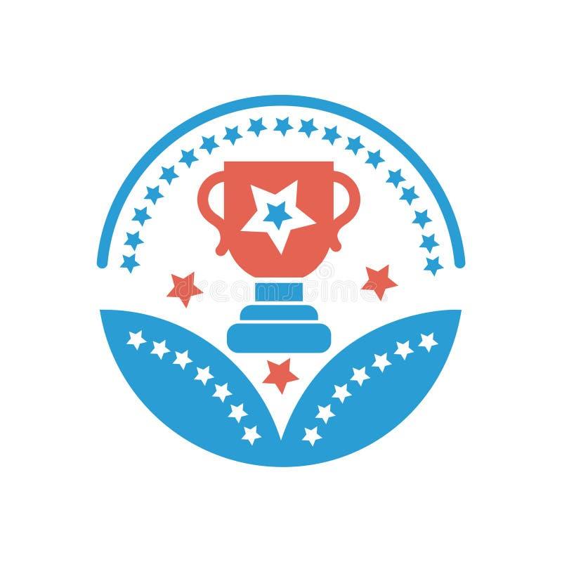 Segno del premio di vettore dell'icona del premio della tazza per il vostro affare illustrazione vettoriale
