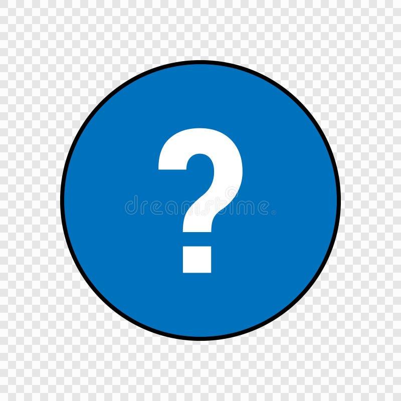 Segno del punto interrogativo royalty illustrazione gratis