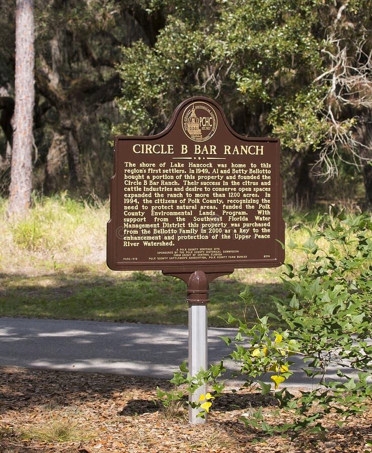 Segno del ranch del cerchio B Antivari fotografia stock libera da diritti