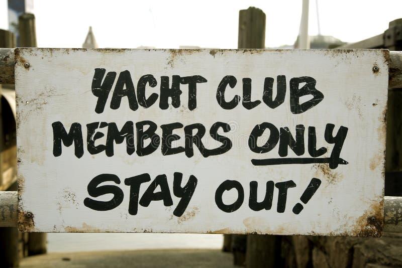 Segno del randello dell'yacht fotografie stock