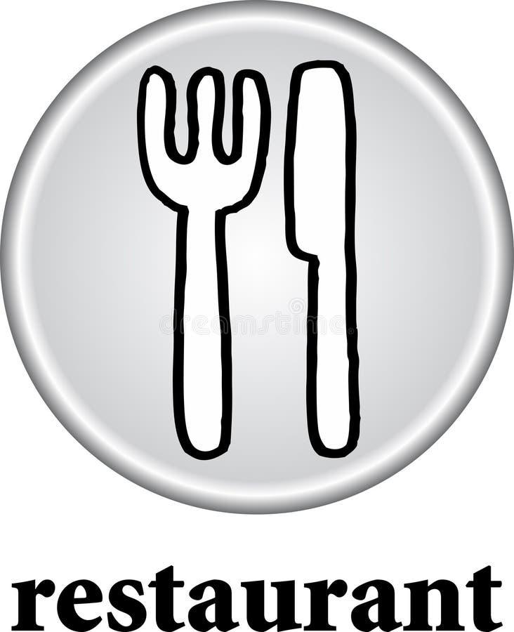 Segno del ristorante illustrazione vettoriale
