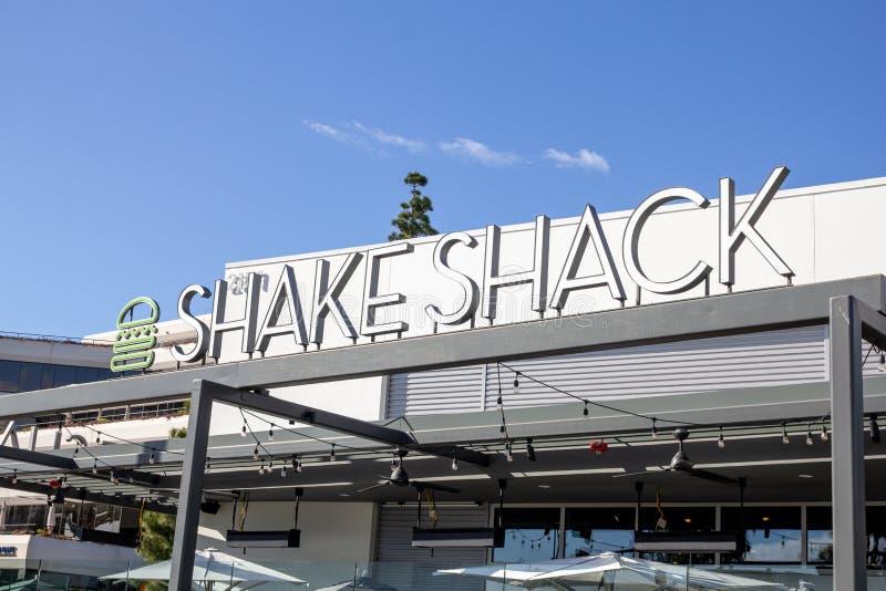Segno del ristorante di Shack di scossa immagine stock libera da diritti