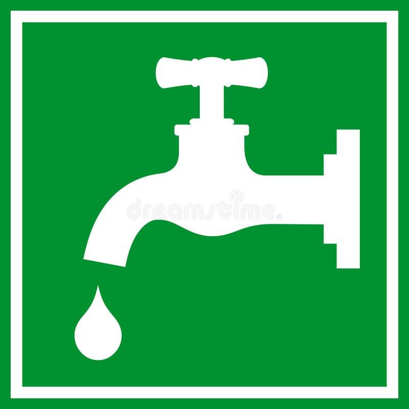 Segno del rubinetto di acqua royalty illustrazione gratis