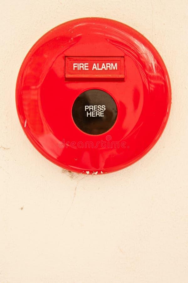 Segno del segnalatore d'incendio di incendio fotografia stock libera da diritti