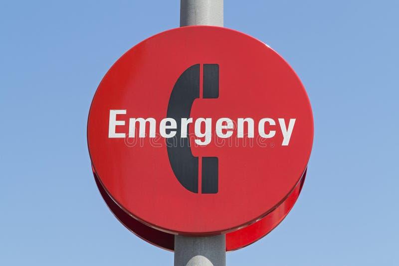 Segno del telefono di emergenza fotografie stock