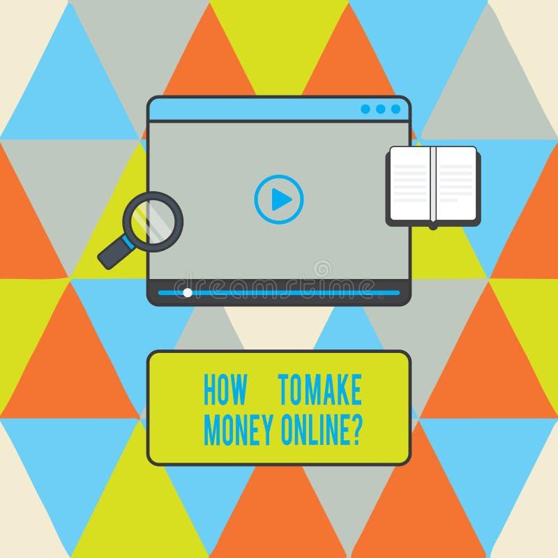 Segno del testo che mostra come fare soldi Onlinequestion Strategie concettuali della foto per ottenere i guadagni sul video dell illustrazione di stock
