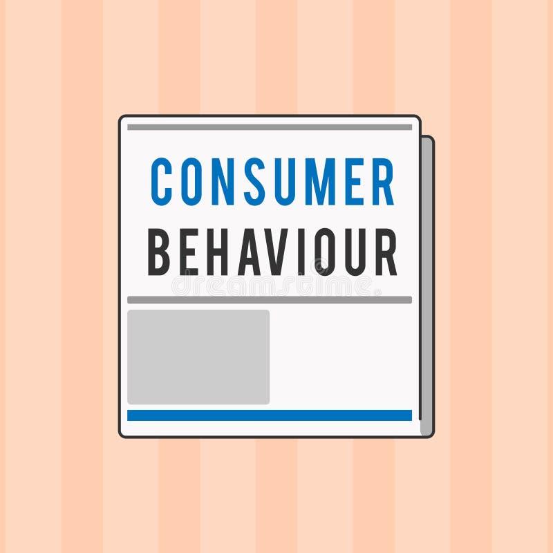 Segno del testo che mostra comportamento del consumatore Decisioni concettuali della foto che la gente prende per comprare o per  immagine stock libera da diritti