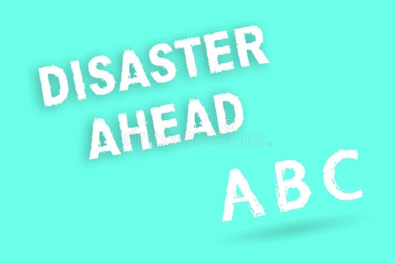 Segno del testo che mostra disastro avanti Piano di emergenza concettuale della foto che prevede un disastro o un incidente royalty illustrazione gratis