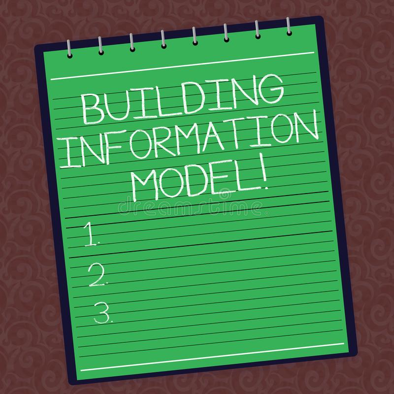 Segno del testo che mostra il modello di costruzione di informazioni Rappresentazione di Digital concettuale della foto della spi illustrazione vettoriale