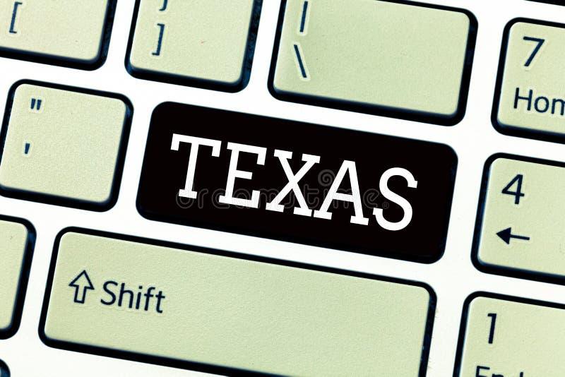 Segno del testo che mostra il Texas Foto concettuale basata sugli amici di significato di taysha di parola di Caddo e suo situato fotografia stock libera da diritti
