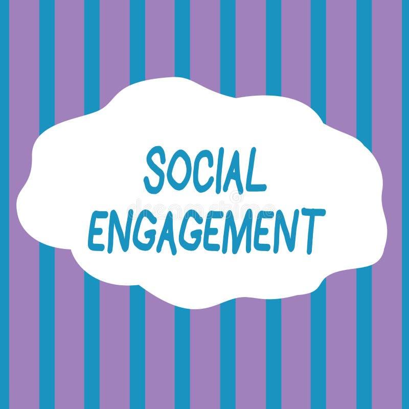 Segno del testo che mostra impegno sociale Grado concettuale della foto di impegno in comunità in linea o una società senza cucit illustrazione di stock