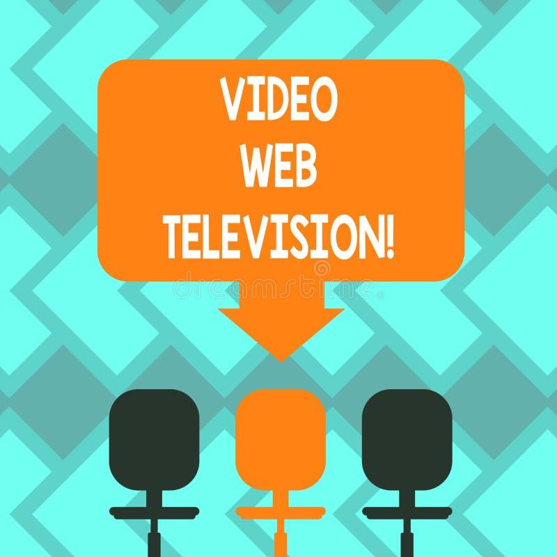 Segno del testo che mostra la video televisione di web I programmi televisivi concettuali della foto hanno ospitato sul canale s  illustrazione vettoriale