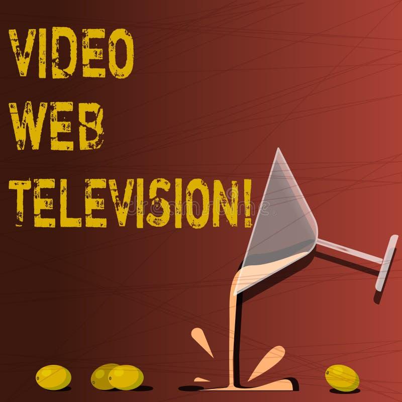 Segno del testo che mostra la video televisione di web I programmi televisivi concettuali della foto hanno ospitato sul canale s  royalty illustrazione gratis
