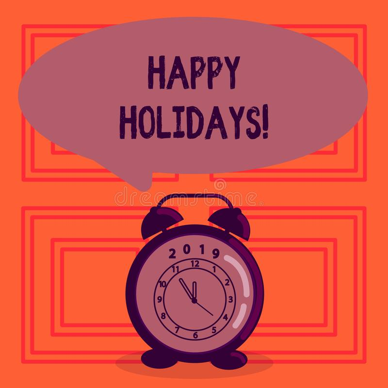 Segno del testo che mostra le feste felici Saluto concettuale della foto che celebra i giorni festivi illustrazione vettoriale